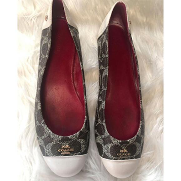 Coach Shoes - Coach Chelsea Flats Brown Cream Shoes Size 8.5